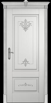 Влагостойкая Межкомнатная дверь Эмаль с патиной ФЛОРАНС - фото 13736