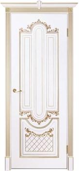 Влагостойкая Межкомнатная дверь Эмаль с патиной МУАР глухая - фото 13740