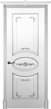 Влагостойкая Межкомнатная дверь Эмаль с патиной КАМЕЛИЯ глухая - фото 13745