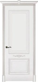 Влагостойкая Межкомнатная дверь Эмаль с патиной ПАУЛА глухая - фото 13753