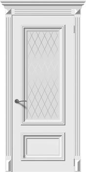 Влагостойкая Межкомнатная дверь Эмаль ЭММА 1 со стеклом - фото 13767