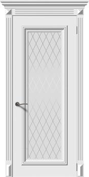 Влагостойкая Межкомнатная дверь Эмаль ЭММА 4 со стеклом - фото 13770