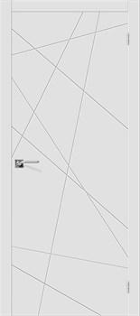 Влагостойкая Межкомнатная дверь Эмаль Скинни-5  Whitey - фото 13829