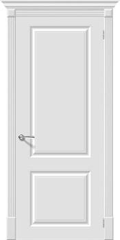 Влагостойкая Межкомнатная дверь Эмаль Скинни-12  Whitey - фото 13831