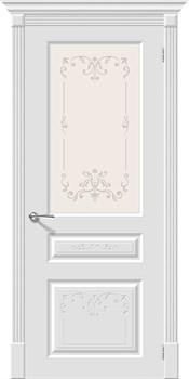 Влагостойкая Межкомнатная дверь Эмаль Скинни-15.1 Аrt  Whitey/Худ - фото 13842