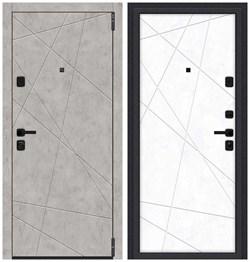 Входная металлическая дверь Porta M 15.15 Grey Art/Snow Art - со звукоизоляцией склад в наличии - фото 24956