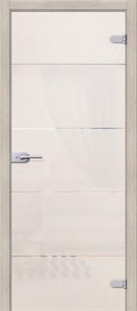 Межкомнатная дверь Стеклянная Диана Белое Сатинато - фото 4664