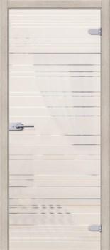 Межкомнатная дверь Стеклянная Грация Белое Сатинато - фото 4668