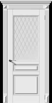 Межкомнатная дверь Эмаль Versal-N со стеклом - фото 4816