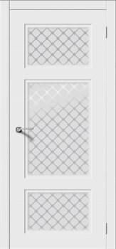 Межкомнатная дверь Эмаль Uvertiura-N со стеклом - фото 4918