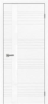 Межкомнатная дверь шпон СИТИ 1 СТЕКЛО БЕЛОЕ - фото 5470