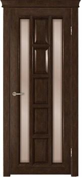 Межкомнатная дверь шпонированная КВАДРА со стеклом - фото 5501