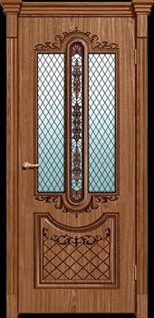 Межкомнатная дверь МУАР со стеклом - фото 5505