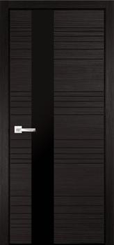 Межкомнатная дверь НОВЕЛЛА 1 ВЕНГЕ, СТЕКЛО ЧЕРНОЕ - фото 6112
