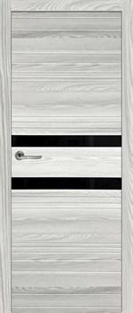 Межкомнатная дверь НОВЕЛЛА 2 ЛИСТВЕННИЦА СЕРАЯ, СТЕКЛО ЧЕРНОЕ - фото 6118