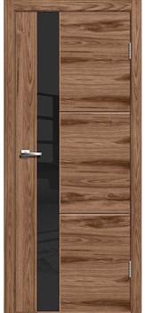 Межкомнатная дверь ЛЕСТЕР 2 АМЕРИКАНСКИЙ ОРЕХ, СТЕКЛО ЧЕРНОЕ - фото 6130