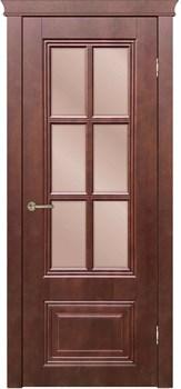Межкомнатная дверь шпон ОПТИМА со стеклом - фото 7446