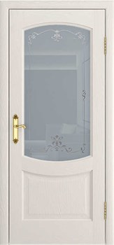 Межкомнатная дверь шпон РОСТРА 5 со стеклом - фото 7572