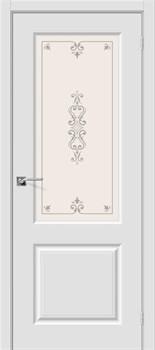 Межкомнатная дверь Скинни-13 П-23 (Белый)/Худ. - фото 9608