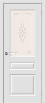 Межкомнатная дверь Скинни-15 П-23 (Белый)/Худ. - фото 9610