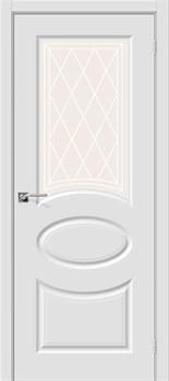 Межкомнатная дверь Скинни-21 П-23 (Белый)/Худ - фото 9614
