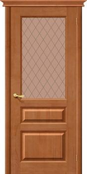 Межкомнатная дверь М5 Т-05 (Светлый Лак)/Кристалл - фото 9732