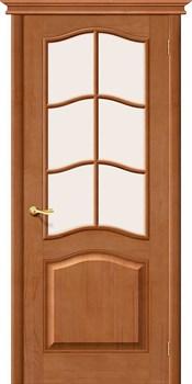 Межкомнатная дверь М7  Т-05 (Светлый Лак)/Сатинато - фото 9780