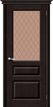 Межкомнатная дверь М5  Т-06 (Темный Лак)/Кристалл - фото 9877