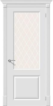 Межкомнатная дверь Эмаль Скинни-13  Whitey/White Сrystal - фото 9960