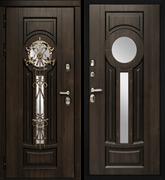 Входная металлическая дверь в дом уличная Vizantiya