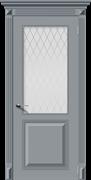Межкомнатная дверь Эмаль БЛЮЗ со стеклом серая