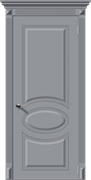 Межкомнатная дверь Эмаль ДЖАЗ глухая серая