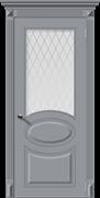 Межкомнатная дверь Эмаль ДЖАЗ со стеклом серая