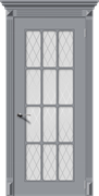 Межкомнатная дверь Эмаль НОКТЮРН со стеклом серая