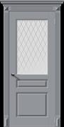 Межкомнатная дверь Эмаль ВЕРСАЛЬ-Н со стеклом серая