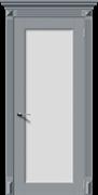 Межкомнатная дверь Эмаль ГАРМОНИЯ-Н со стеклом серая