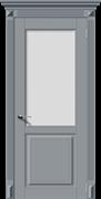 Межкомнатная дверь Эмаль ЛИРА-Н со стеклом серая