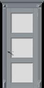 Межкомнатная дверь Эмаль СИМФОНИЯ-Н со стеклом серая