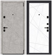 Входная металлическая дверь Porta M 15.15 Grey Art/Snow Art склад в наличии