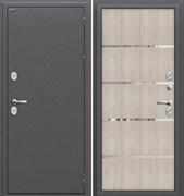 Входная металлическая дверь Уличная  Термо 204  Антик Серебро/Cappuccino Veralinga склад в наличии
