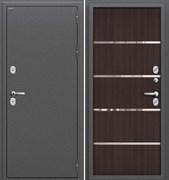 Входная металлическая дверь Уличная  Термо 204  Антик Серебро/Wenge Veralinga склад в наличии