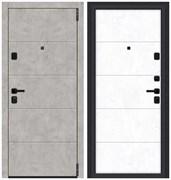 Входная металлическая дверь Porta M 4.4 Grey Art/Snow Art - со звукоизоляцией склад в наличии