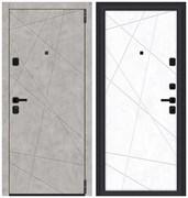 Входная металлическая дверь Porta M 15.15 Grey Art/Snow Art - со звукоизоляцией склад в наличии