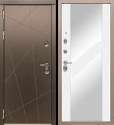 Входная металлическая дверь в квартиру МД-50 с зеркалом