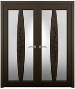 Дверь распашная двустворчатая VALENSIA дуб, сосна