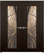 Дверь распашная двустворчатая PLATAN дуб сосна