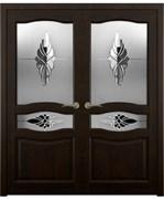 Дверь распашная двустворчатая VIKTORIA 2 дуб, сосна