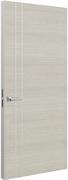 Дверь Tokyo М2, дуб молочный с алюминиевой кромкой