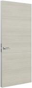 Дверь Tokyo М4, дуб молочный с алюминиевой кромкой