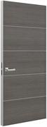 Дверь Tokyo М4, дуб серый с алюминиевой кромкой